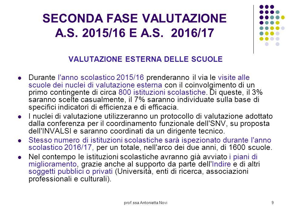 SECONDA FASE VALUTAZIONE A.S. 2015/16 E A.S. 2016/17