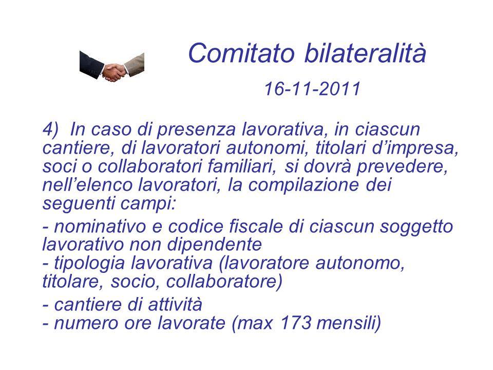 Comitato bilateralità 16-11-2011