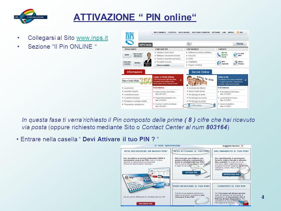 ATTIVAZIONE PIN online