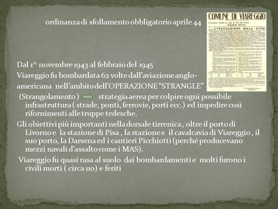 ordinanza di sfollamento obbligatorio aprile 44