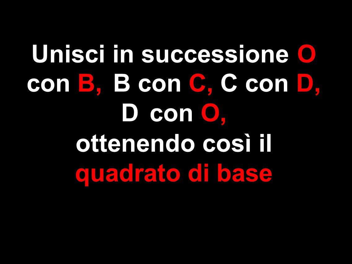 Unisci in successione O con B, B con C, C con D, D con O,