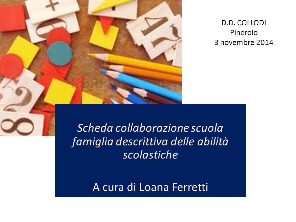 D.D. COLLODI Pinerolo 3 novembre 2014