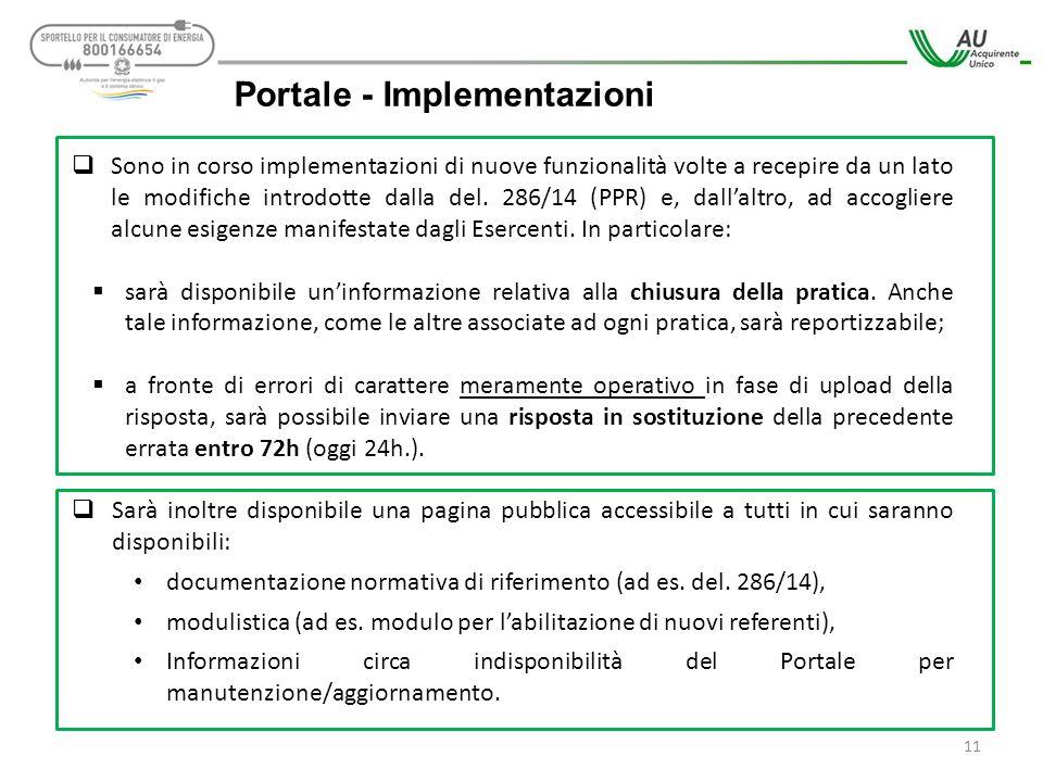 Portale - Implementazioni