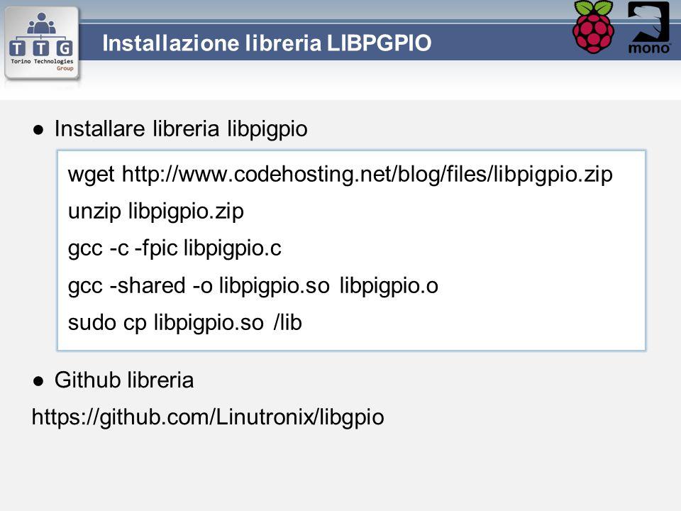 Installazione libreria LIBPGPIO