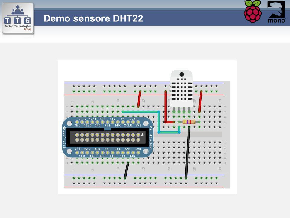 Demo sensore DHT22