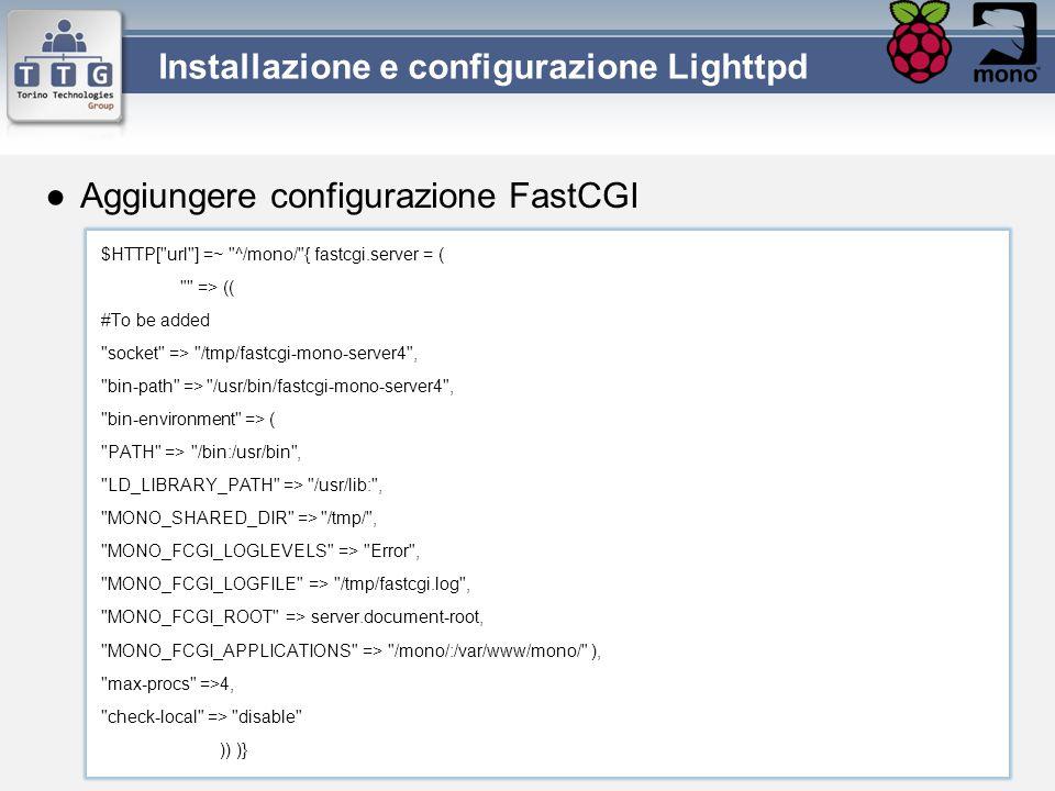 Installazione e configurazione Lighttpd