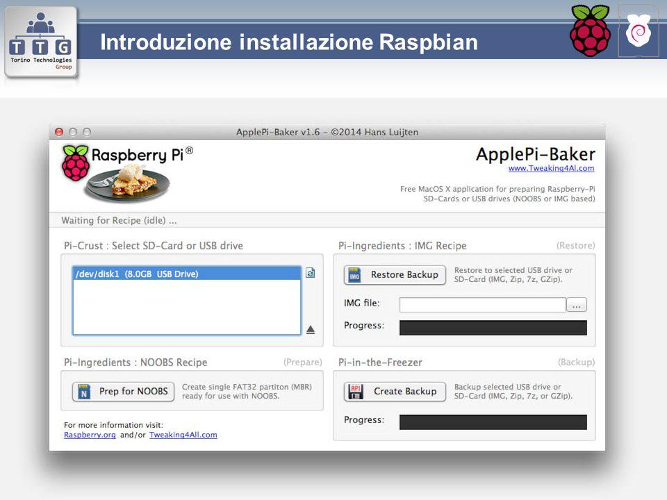 Introduzione installazione Raspbian