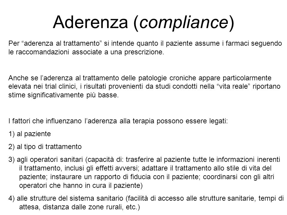 Aderenza (compliance)