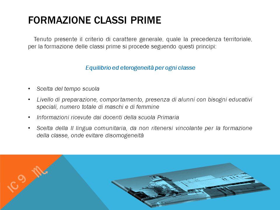FORMAZIONE CLASSI PRIME