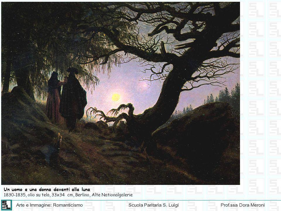 Un uomo e una donna davanti alla luna