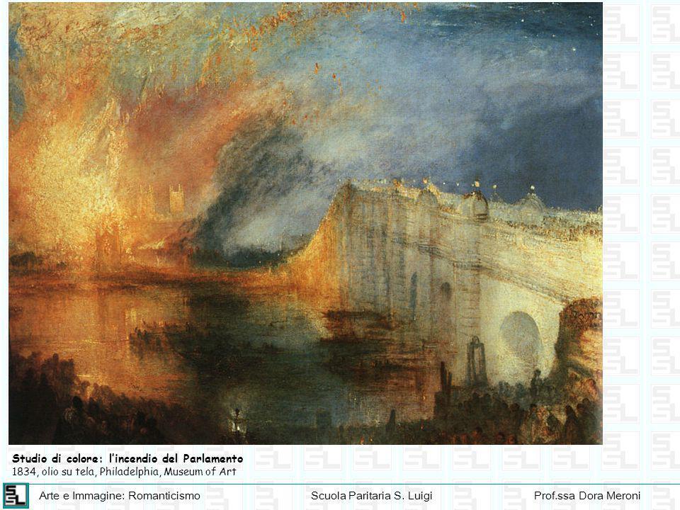 Studio di colore: l'incendio del Parlamento