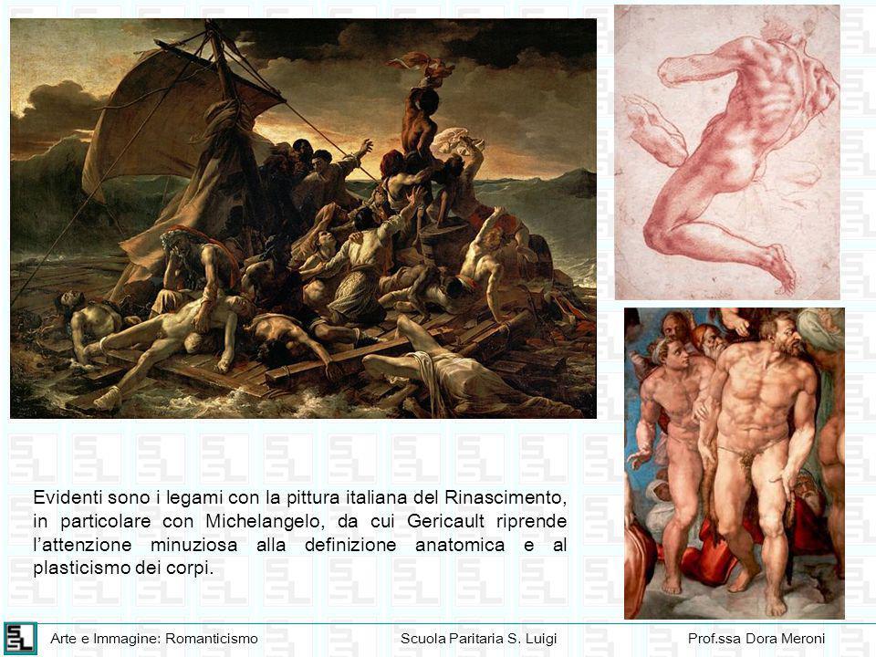 Evidenti sono i legami con la pittura italiana del Rinascimento, in particolare con Michelangelo, da cui Gericault riprende l'attenzione minuziosa alla definizione anatomica e al plasticismo dei corpi.