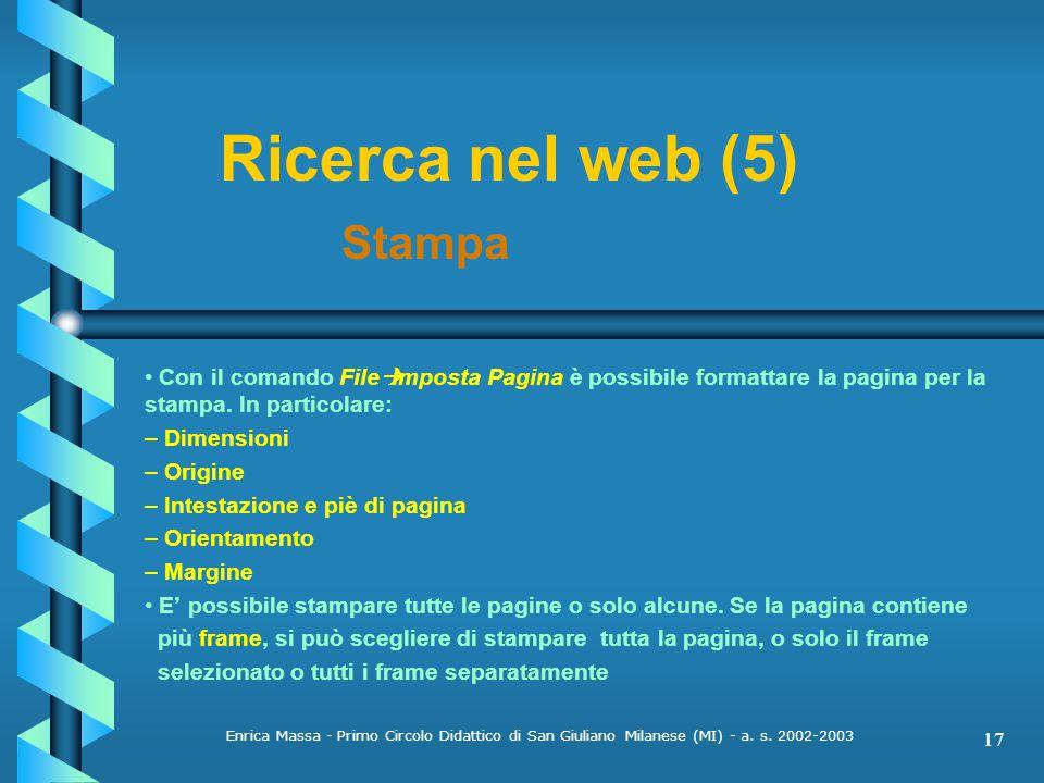 Ricerca nel web (5) Stampa