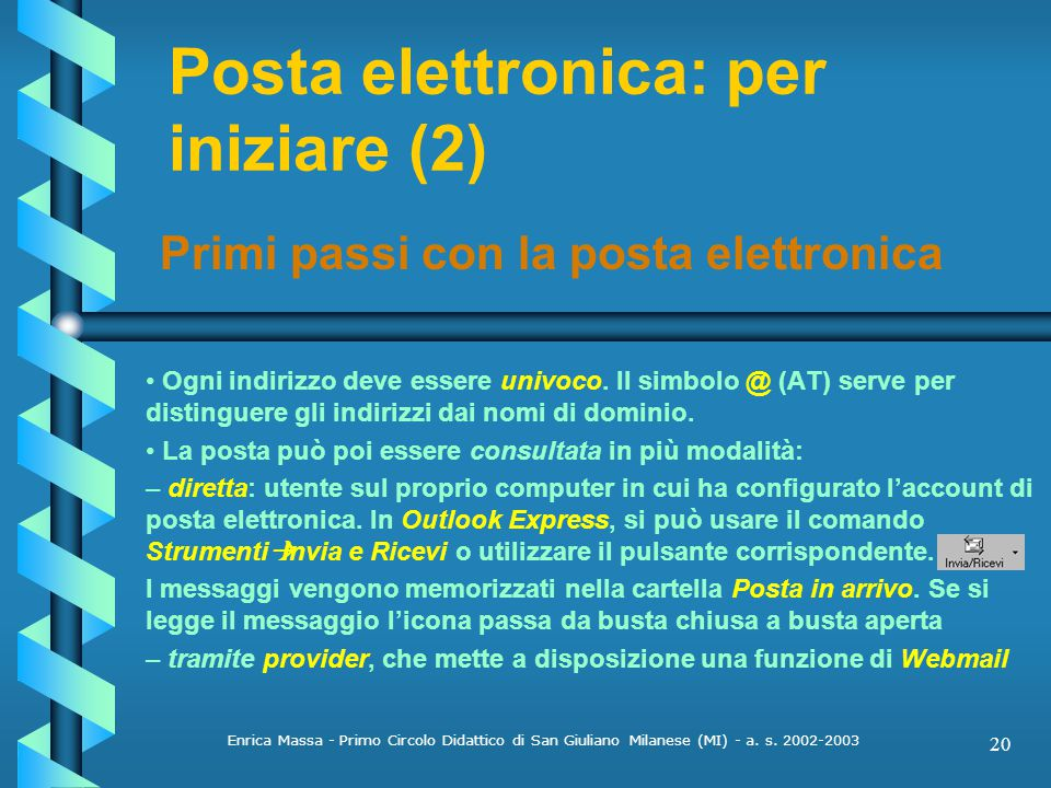 Posta elettronica: per iniziare (2)