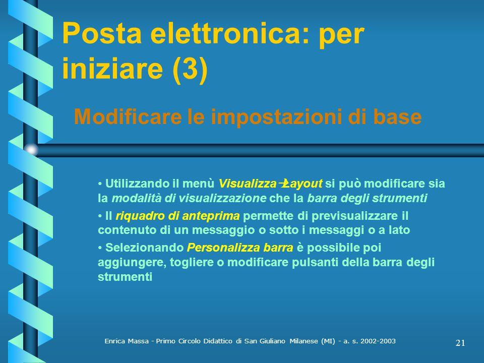 Posta elettronica: per iniziare (3)