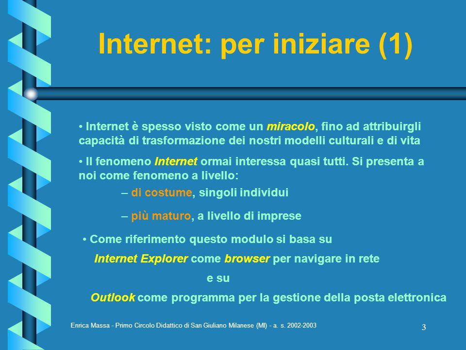 Internet: per iniziare (1)