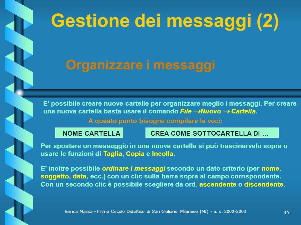 Gestione dei messaggi (2)