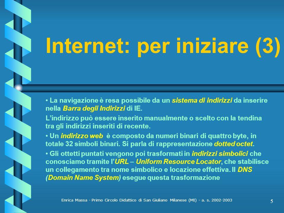 Internet: per iniziare (3)