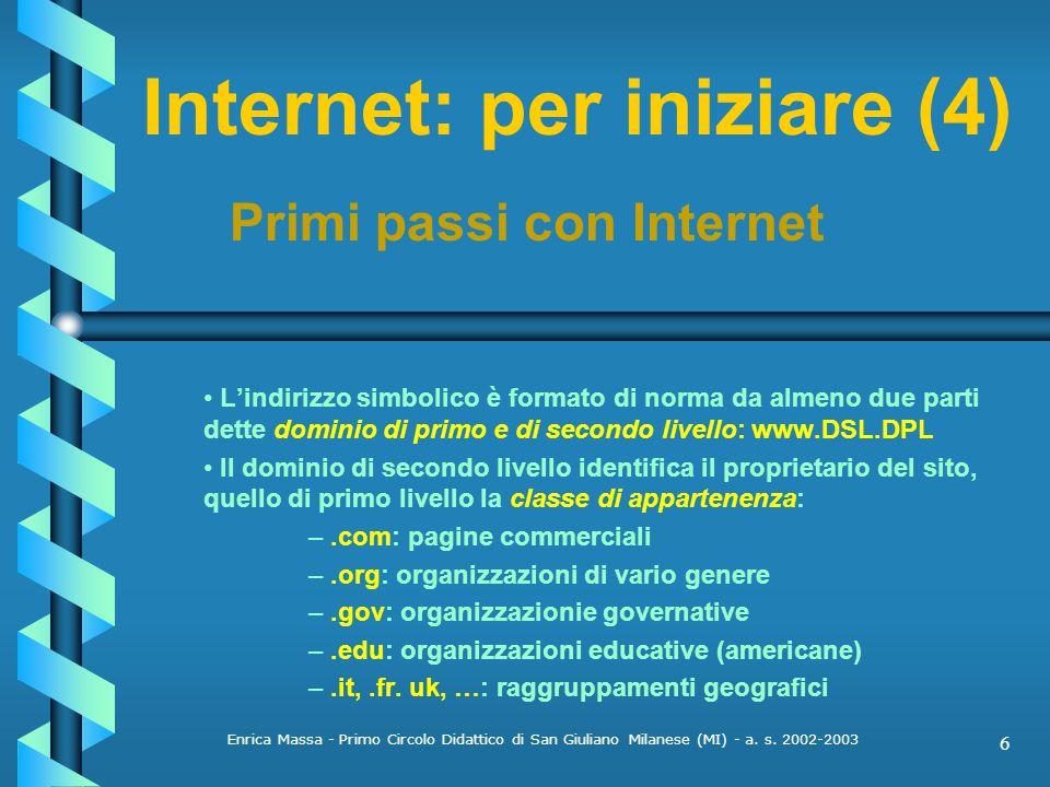 Internet: per iniziare (4)