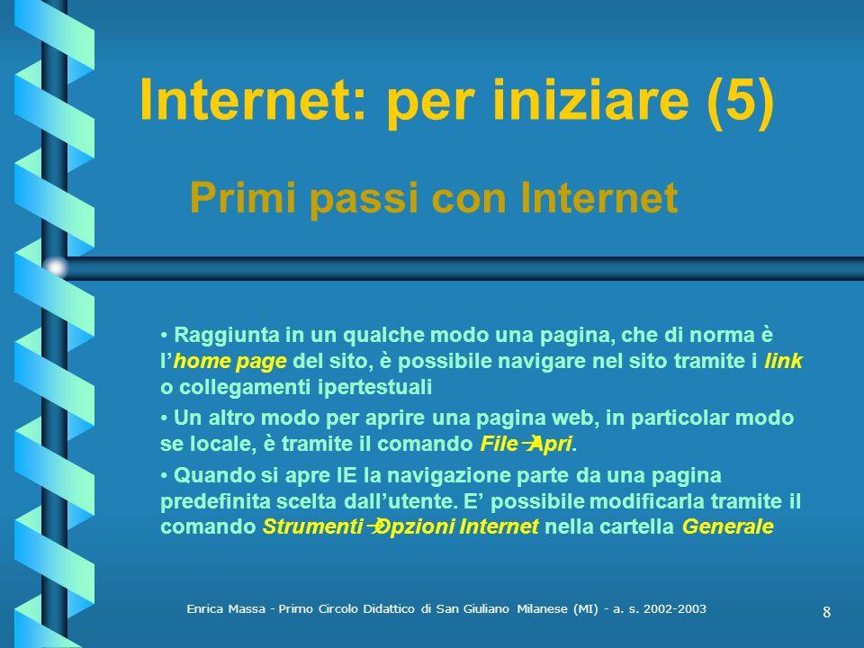 Internet: per iniziare (5)