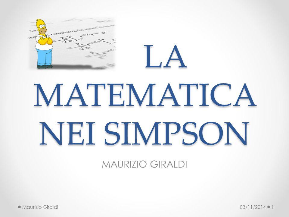 LA MATEMATICA NEI SIMPSON