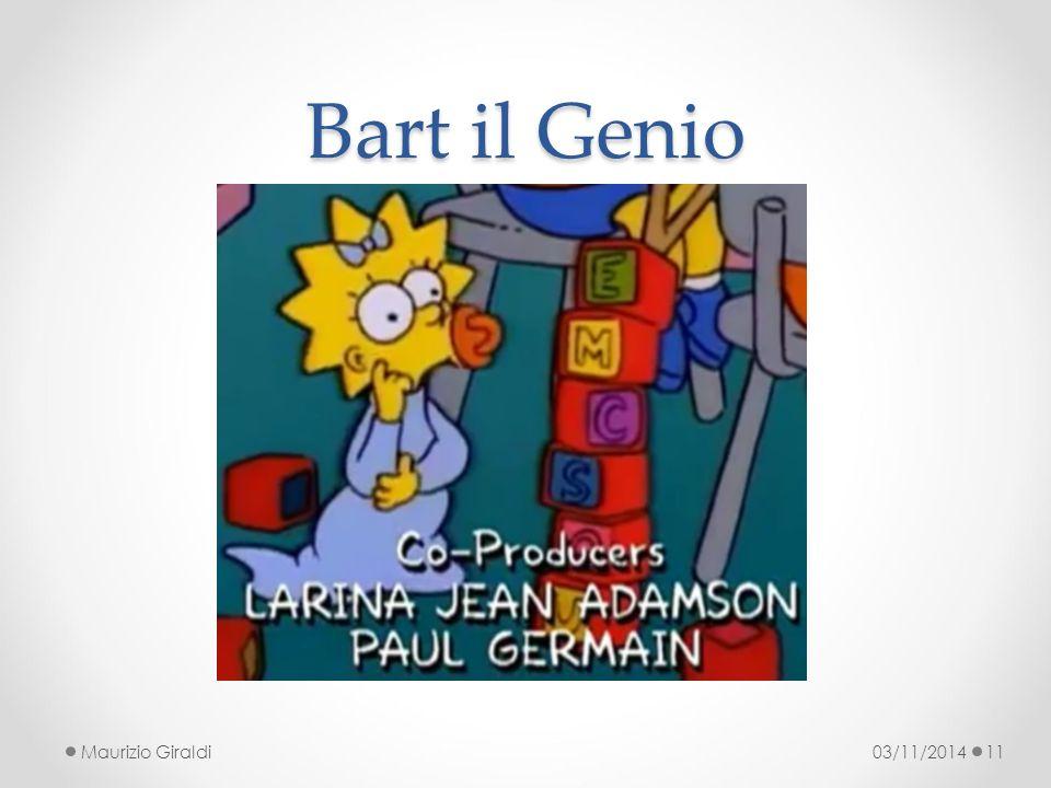 Bart il Genio Maurizio Giraldi 03/11/2014