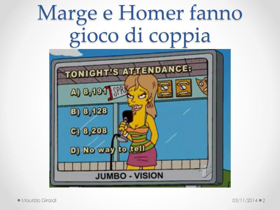 Marge e Homer fanno gioco di coppia