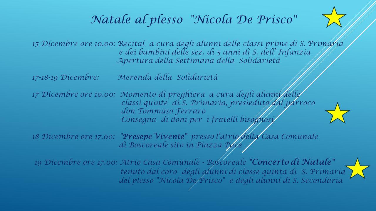 Natale al plesso Nicola De Prisco