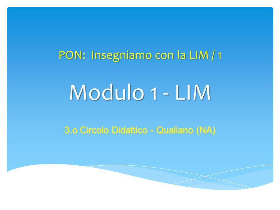PON: Insegniamo con la LIM / 1