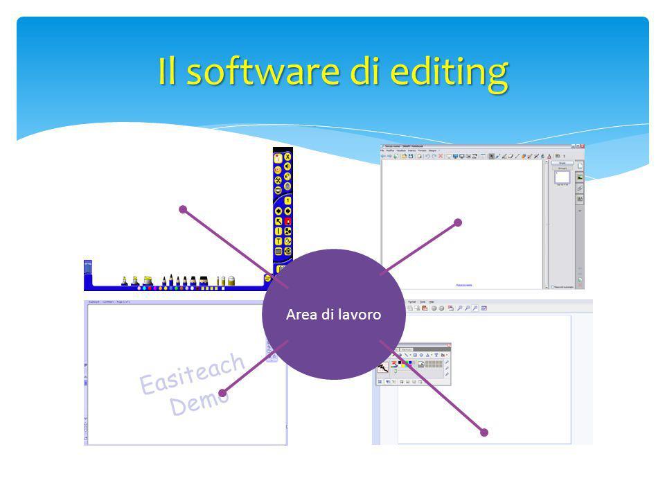 Il software di editing Area di lavoro