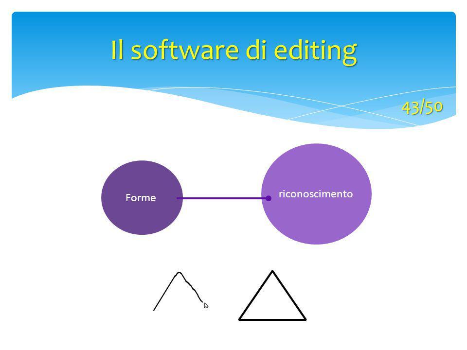 Il software di editing 43/50 riconoscimento Forme