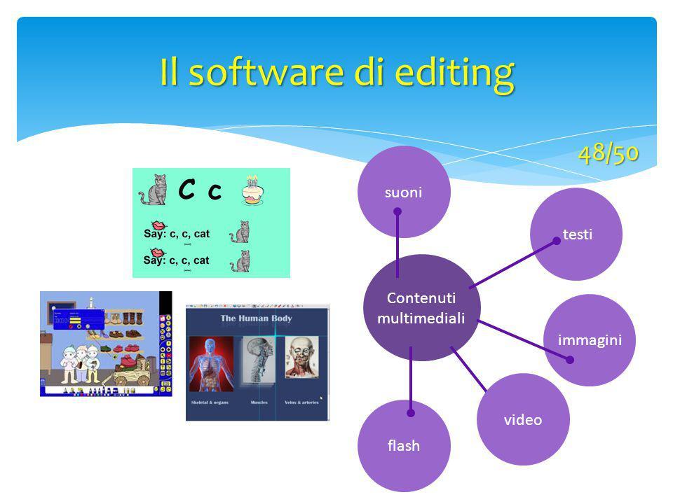 Il software di editing 48/50 suoni testi Contenuti multimediali