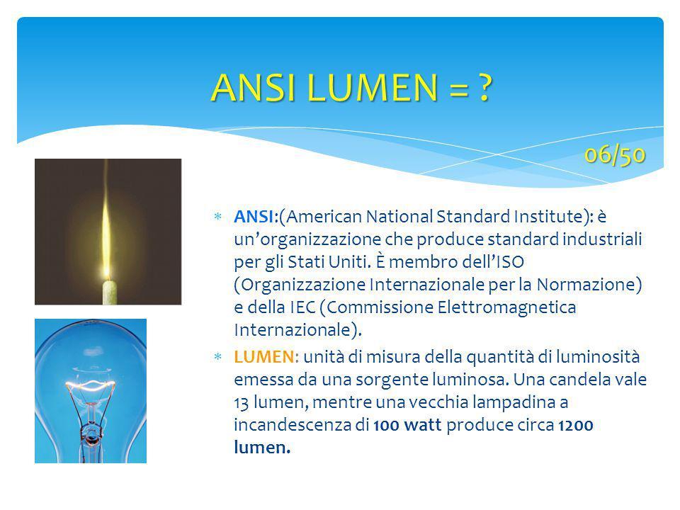ANSI LUMEN = 06/50.