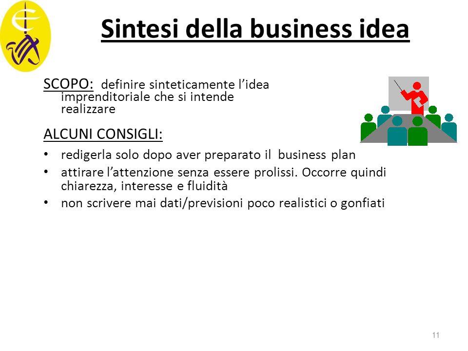 Sintesi della business idea