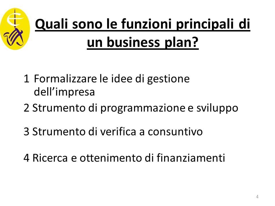 Quali sono le funzioni principali di un business plan