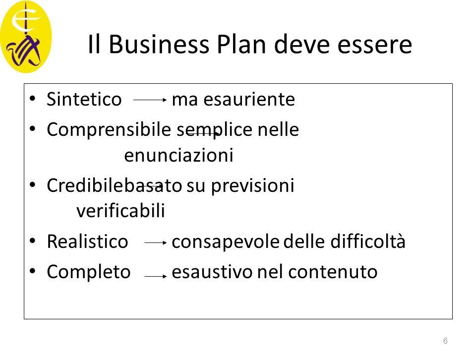 Il Business Plan deve essere