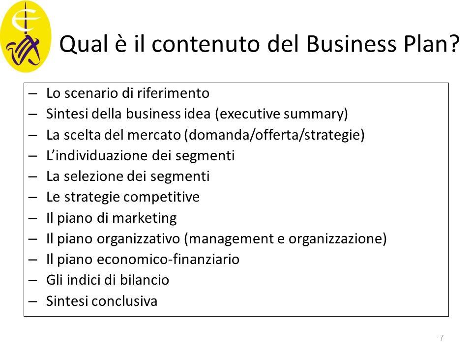 Qual è il contenuto del Business Plan