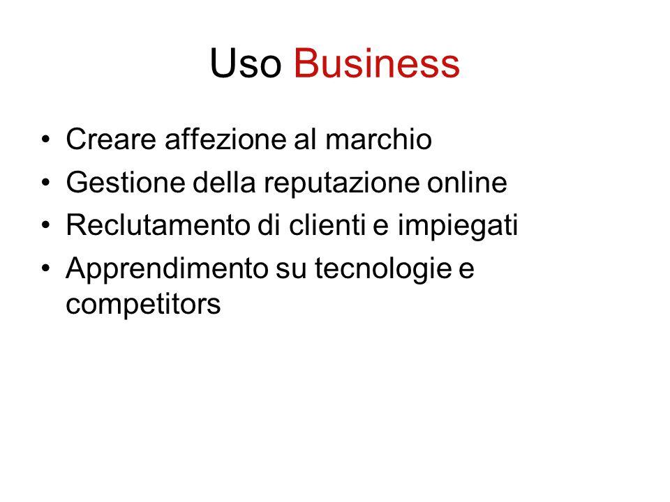 Uso Business Creare affezione al marchio
