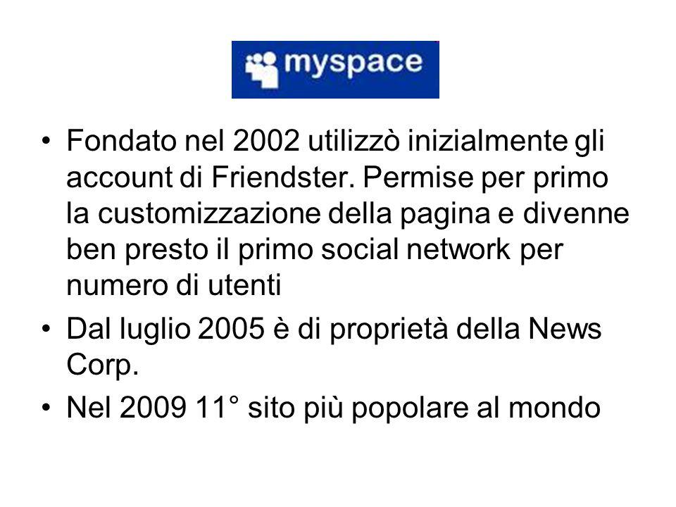 Fondato nel 2002 utilizzò inizialmente gli account di Friendster
