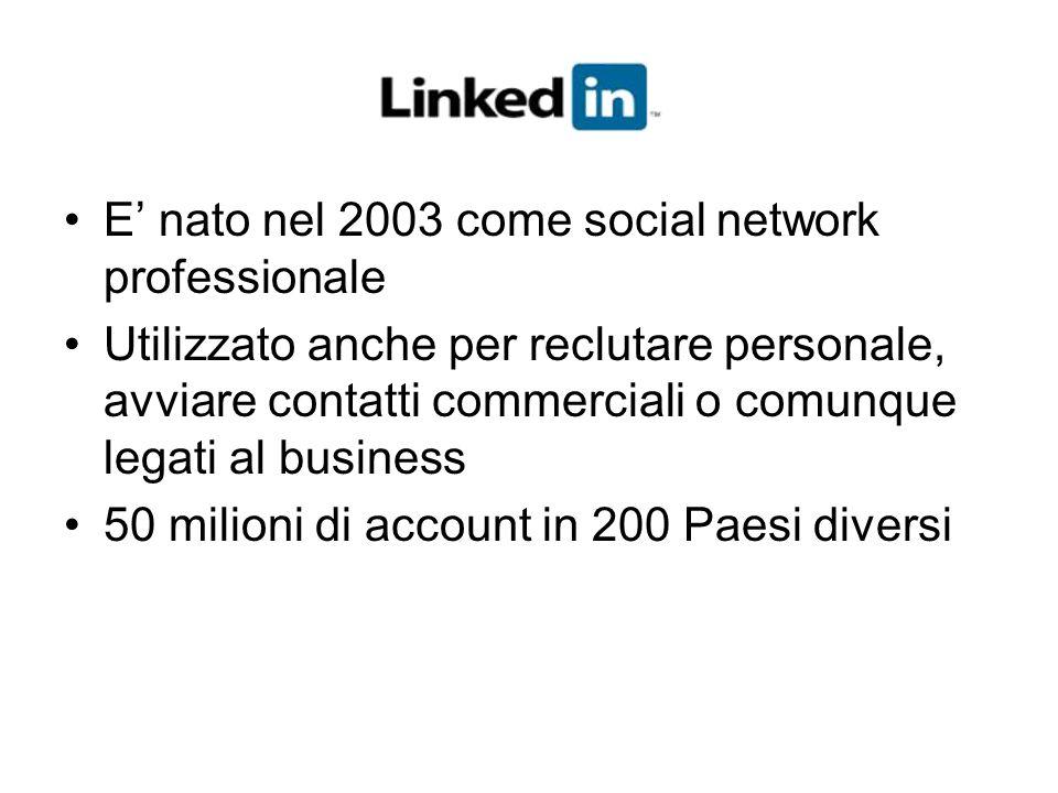 E' nato nel 2003 come social network professionale
