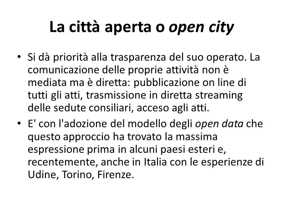 La città aperta o open city
