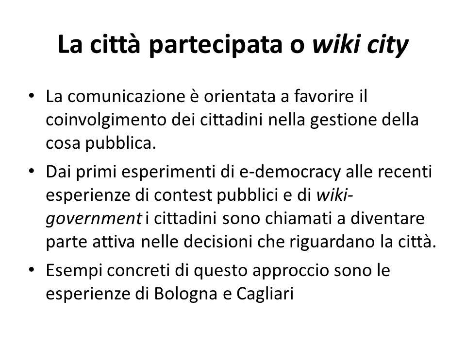 La città partecipata o wiki city
