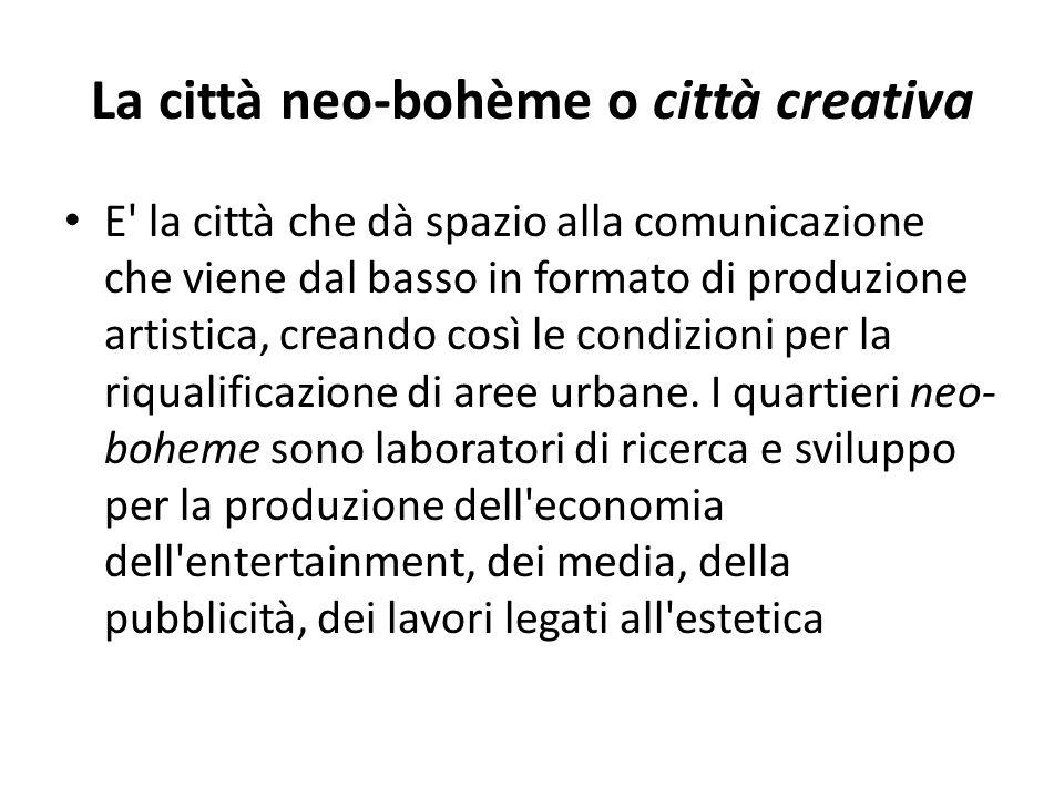 La città neo-bohème o città creativa