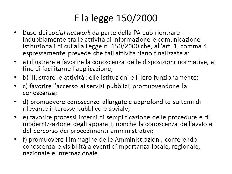 E la legge 150/2000