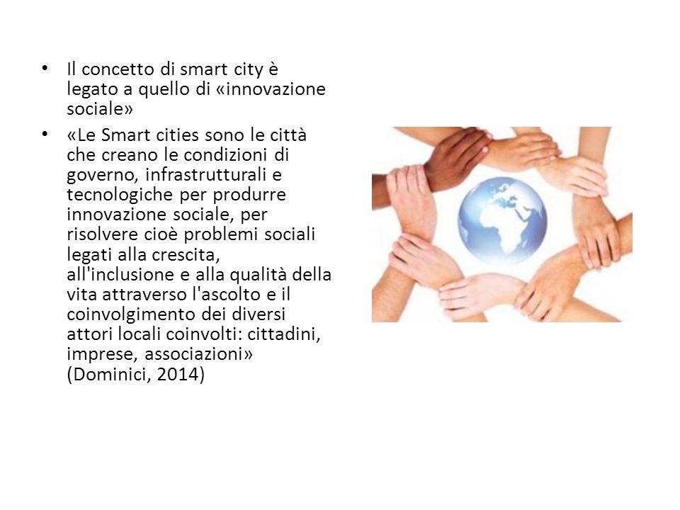 Il concetto di smart city è legato a quello di «innovazione sociale»