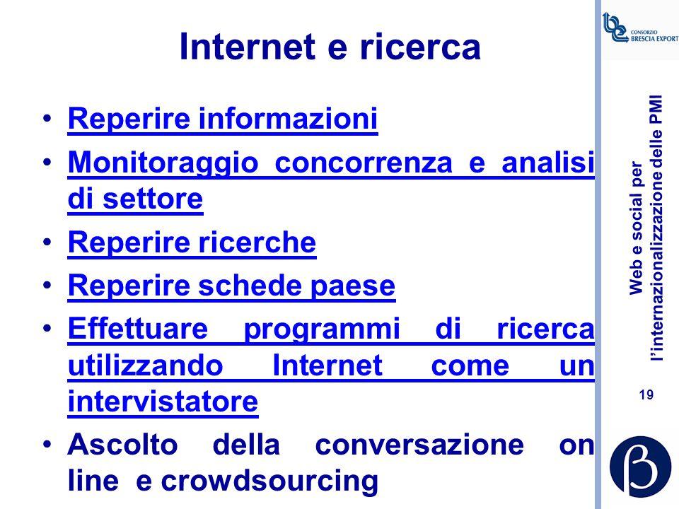 Internet e ricerca Reperire informazioni