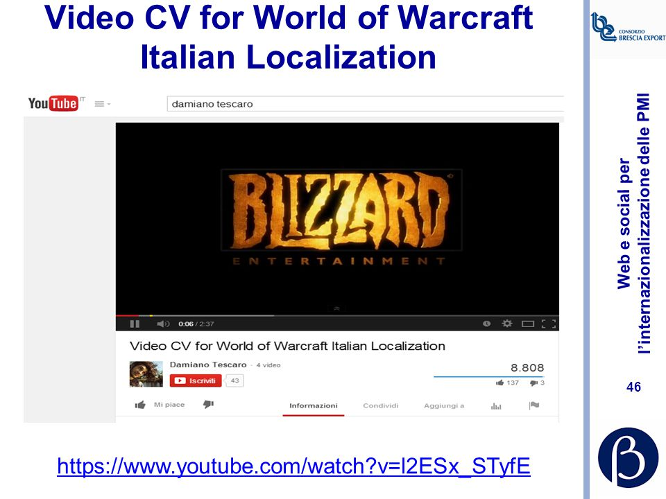 Video CV for World of Warcraft Italian Localization