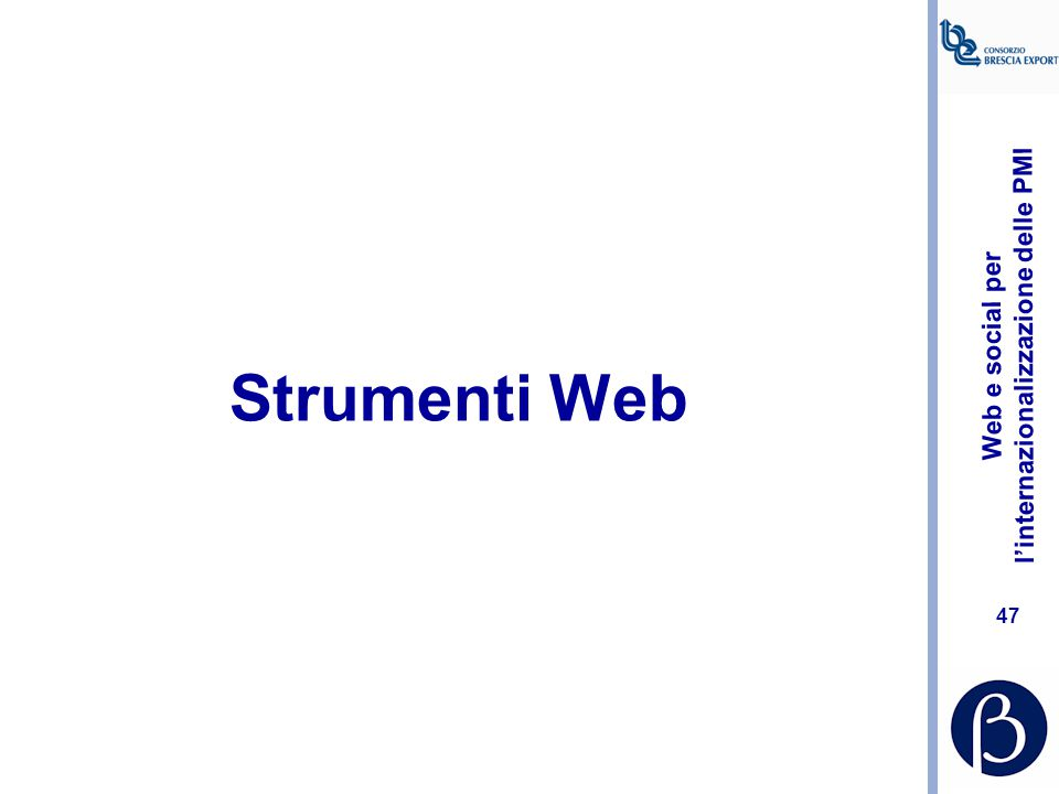 Strumenti Web