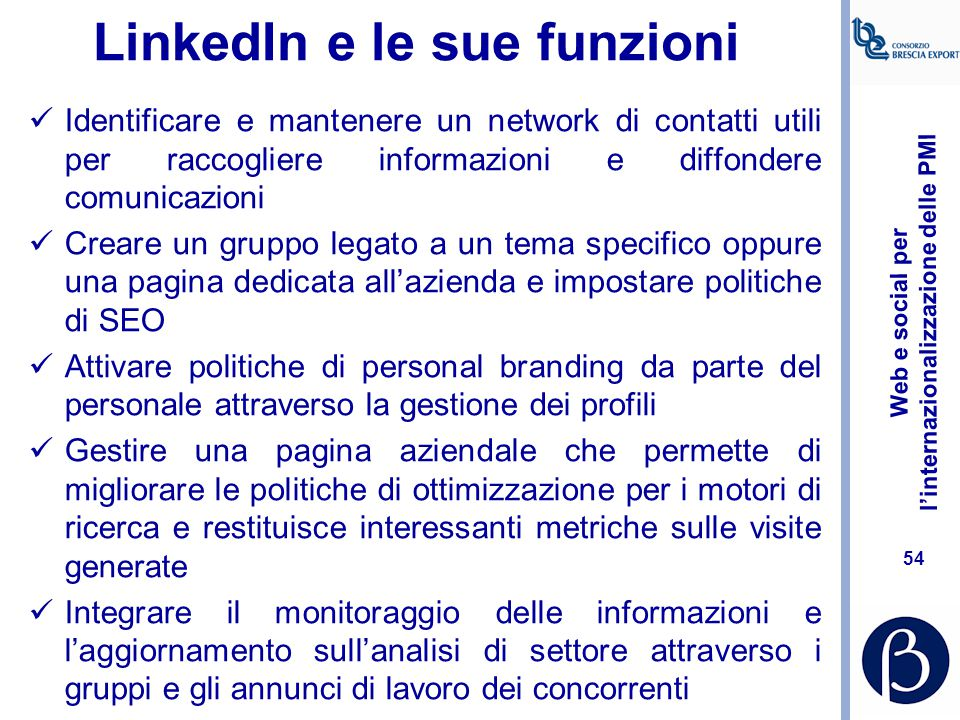 LinkedIn e le sue funzioni