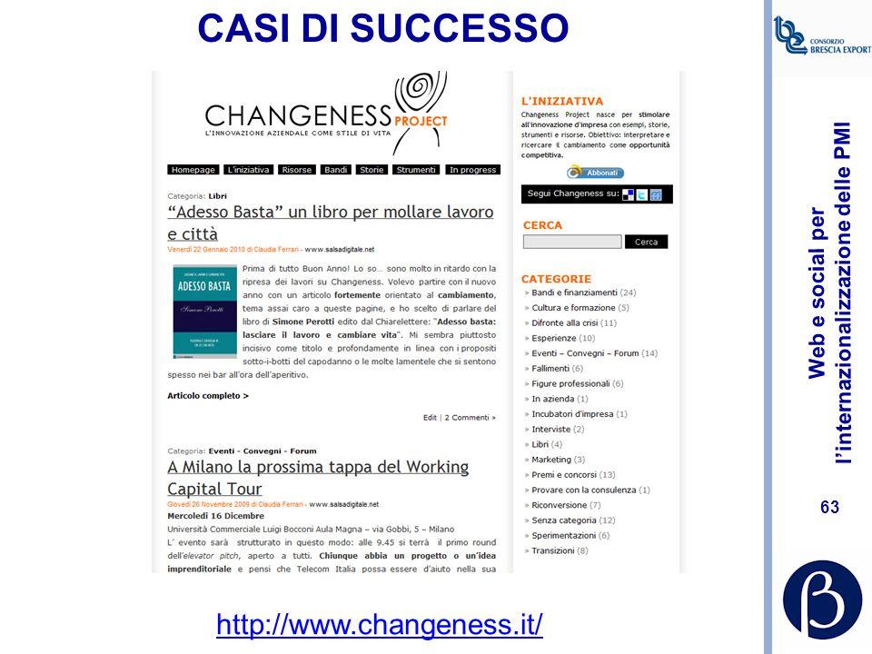 CASI DI SUCCESSO http://www.changeness.it/